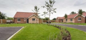 Picture of new build development of 7 bungalows, Thurlton, Norfolk. Architectural design, planning and SAP calculations undertaken.