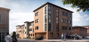 Architectural visualisation for 22 New build one and two bedroom flats, Gorelston, Norfolk.