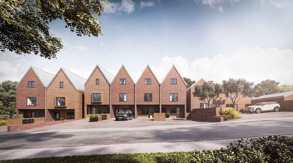 New build development of 10 dwellings, Fakenham. SAP calculations and CGI visualisation project.