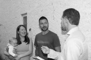 Picture of Lee Marsh with clients prior to start on site, Tusting Close