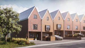 New build development of 10 dwellings, Fakenham. SAP calculations and CGI visualisation project.