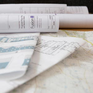 Planning application drawings and map