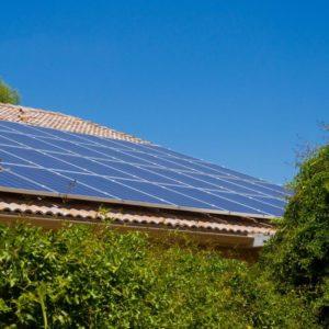 PV panels - renewables on dwelling Environmental services.