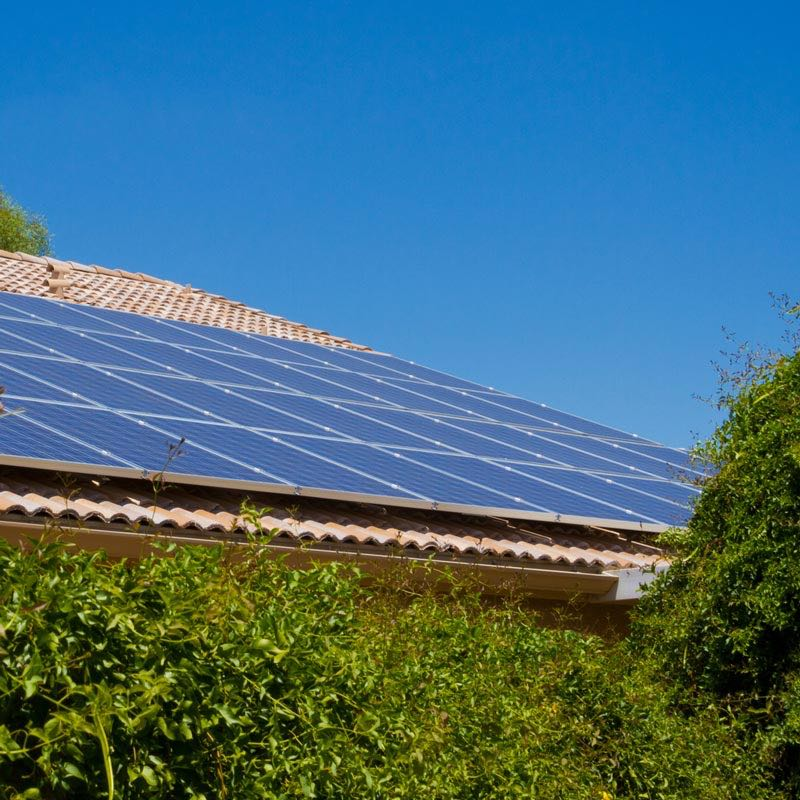 PV panels - renewables on dwelling Environmental services.