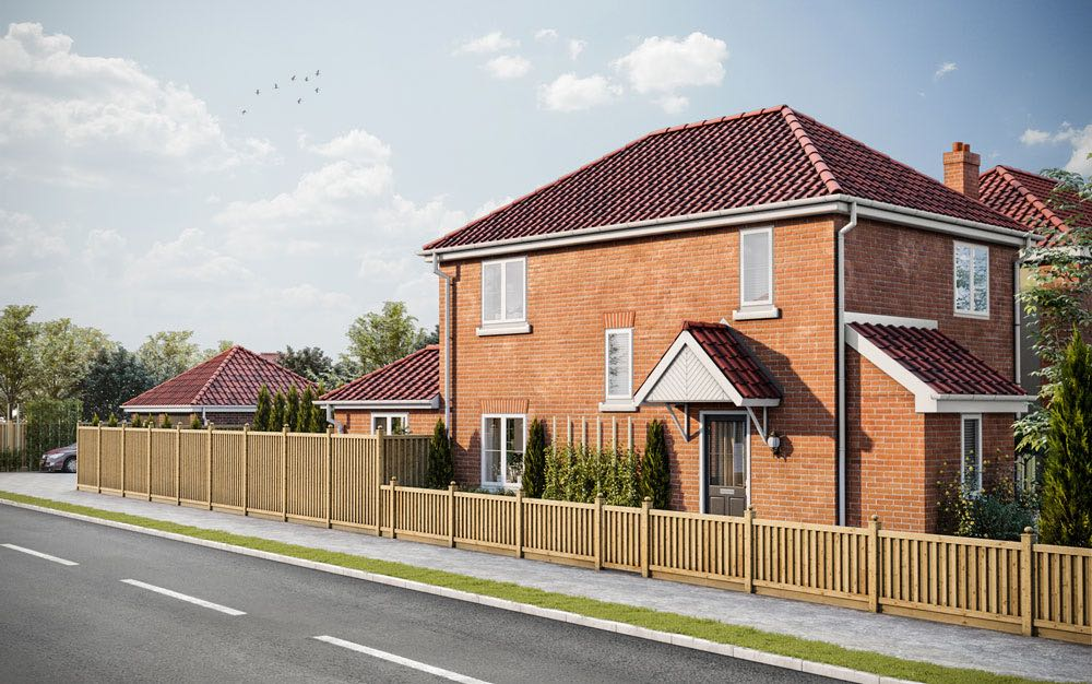SAP calculations and CGI visualisation project. Single new build three-bedroom house, Sprowston