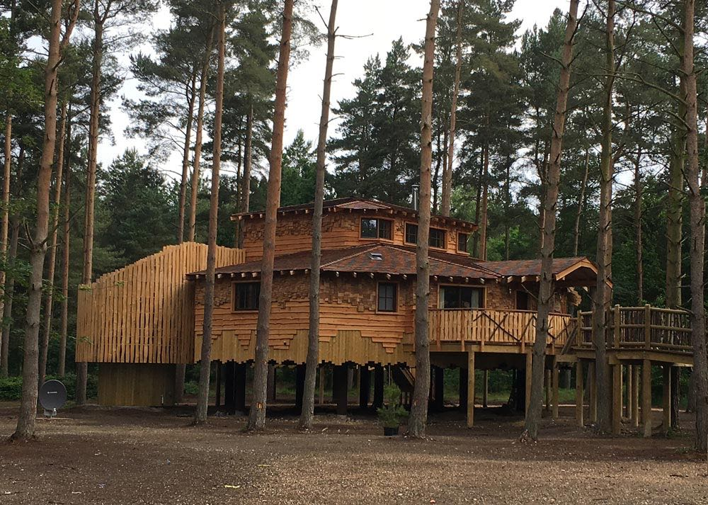 SAP calculations project. Luxury holiday home treehouses at Centre Parcs, Elveden. Copyright Cocksedge Building Contractors Ltd