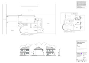 Architectural design: Proposed plans & elevations for 2 storey extension, York