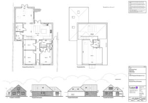 Plans and elevations for new build 4-bedroom chalet bungalow in Spixworth, Norwich, Norfolk.