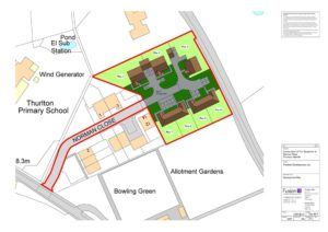 Development plan for new build development of 7 bungalows, Norfolk
