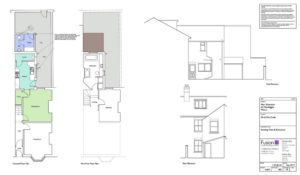 Existing floor plans for single storey home extension, Malton.