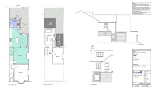Proposed floor plans for single storey home extension, Malton.