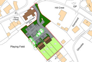 Development plan for new build housing on land owned by The Queens Head Pub, Thurlton, Norfolk