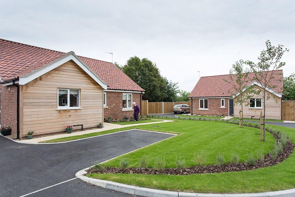 New build development or 7 bungalows, Thurlton, Norfolk