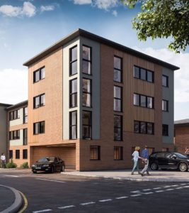 CGI visualisation of 22 new build flats in Gorleston, Great Yarmouth, Norfolk.
