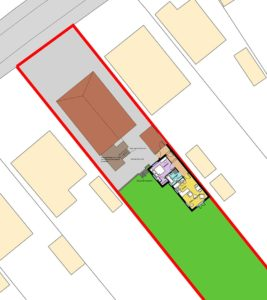 Development plan for a self-contained annex in rear garden, Norwich, Norfolk.