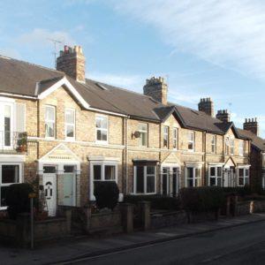 Street scene Newbiggin, Malton, Victorian terrace houses.