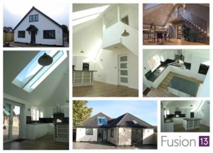 New build 4-bedroom chalet bungalow, Spixworth, Norfolk. Montage of photos and photo real CGI.