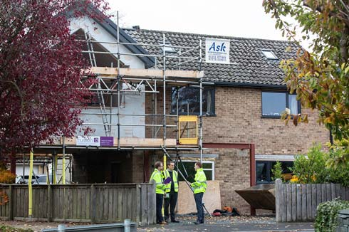 Construction on site, read single storey extension and loft conversion, nr. Nawton, York